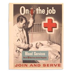 Vintage Red Cross ''On the Job'' Series Poster