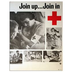 America Red Cross Poster -- ''Join Up Join In'' Vietnam