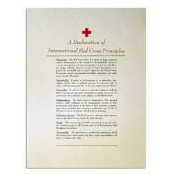 Declaration International Red Cross Principles Poster