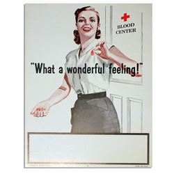 1958 Red Cross Poster -- ''What a Wonderful Feeling''