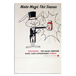 Make Magic This Season Vintage Red Cross Poster