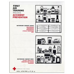 1st Aid Training = Accident Prevention Red Cross Poster
