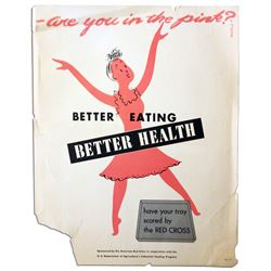 1940's ''Better Eating'' Vintage Red Cross Poster