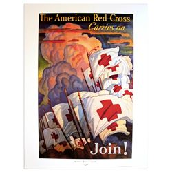 The American Red Cross Carries On: Join! Vintage Poster