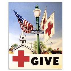 Stevan Dohanos Vintage Give to the Red Cross Poster