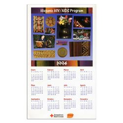 American Red Cross Hispanic HIV/ Aids Calendar Poster