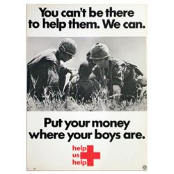 1969 Vietnam War Poster From the American Red Cross