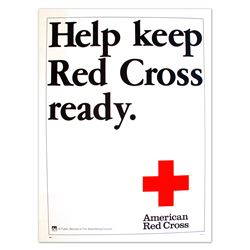 Help Keep Red Cross Ready Vintage Donation Poster