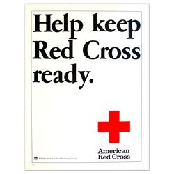 Help Keep Red Cross Ready Vintage Red Cross Poster