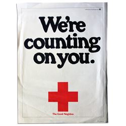 Red Cross Poster -- We're Counting on You.
