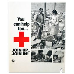 Vintage Red Cross 15'' x 19'' Vintage Recruitment Poster