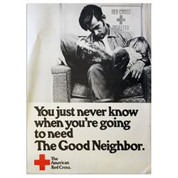 Vintage Red Cross 18x24 Poster re Being a Good Neighbor