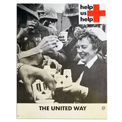 Vietnam Era Red Cross 15 x 19 Poster -- ''Help Us Help''
