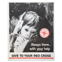 Vintage Red Cross Poster -- Always There With Your Help