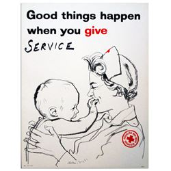 Good Things Happen When You Give Red Cross Poster