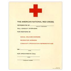 Original Red Cross 8.5'' x 11'' Employment Flyer