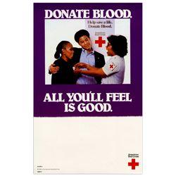 Original Red Cross Donate Blood Poster