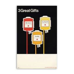 Original Red Cross Donate Blood Poster PlasmaPlatelets