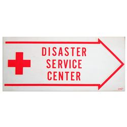 American Red Cross Signage -- ''Disaster Service Center''