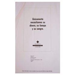 Necesitamos su Dinero Original Red Cross Poster