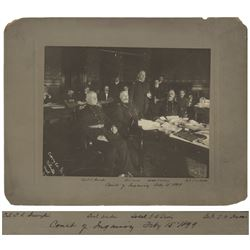 Military Court of Inquiry 1899 Chicago Cabinet Photo