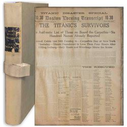 Rare Original Titanic Newspapers from Boston in 1912