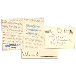 Charles Tex Watson Autograph Letter Signed From Prison