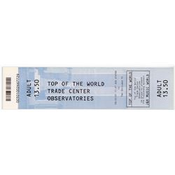 2001 World Trade Center Ticket -- Dated 23 August 2001