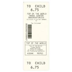 World Trade Center Observatories Ticket 2000