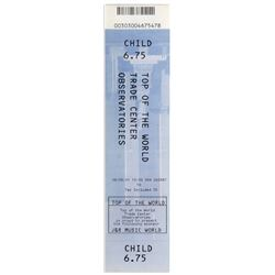 World Trade Center Ticket 8/6/2001 Observatory Deck