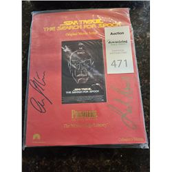 Star Trek III The Search For Spock Signed by Shatner & Nimoy Cat A