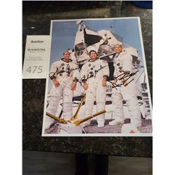 Autographed Photo Apollo 12 Conrad, Bean & Gordon Cat A