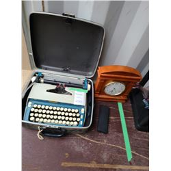 Typewriter, Clock, and Pen