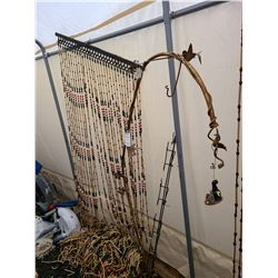 Bead Curtains and Metal Art