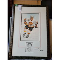 Signed Painting Pavel Bure Cat B