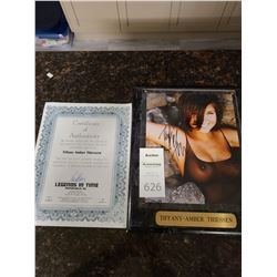 Signed Tiffany-Amber Thiessen Cat A