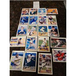 Signed Baseball Trading Cards