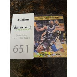 Signed Shaquille O'Neal Rookie Trading Card Cat A