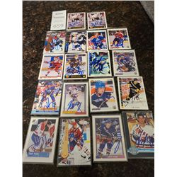 Signed Hockey Trading Cards Cat A