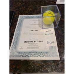Ivan Lendl signed TennisBall Cat A
