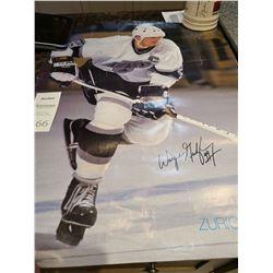 Wayne Gretzky signed poster Cat A