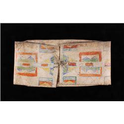 Shoshone Polychrome Parfleche Envelope c. 1800's