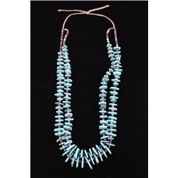 Navajo Cripple Creek Turquoise & Heishi Necklace