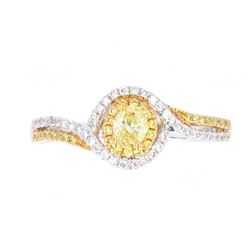 Fancy Yellow Diamond Ring set in 14K Gold