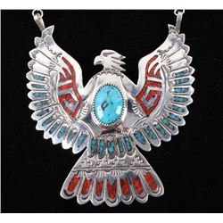 Navajo Lone Mountain Turquoise Chip Inlay Necklace
