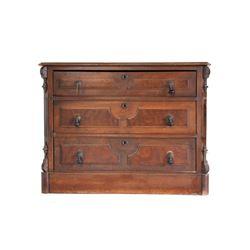 Quarter Sawn Oak R Gray Hudson, NY Dresser C 1900s