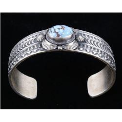Navajo Tufa Cast Golden Hills Turquoise Bracelet