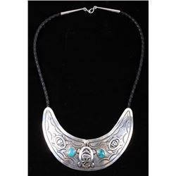Navajo T. Singer Sterling Effigy Collar Necklace