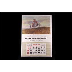 Grogan Robinson Lumber Co. C. Russell Calendar