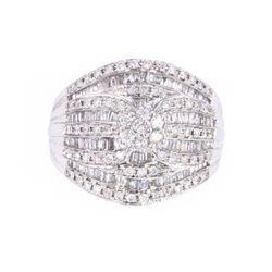 Canary Star Designer Diamond 18k White Gold Ring